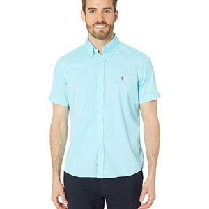 Ralph Lauren SS Blue Featherweight Twill Shirt NEW